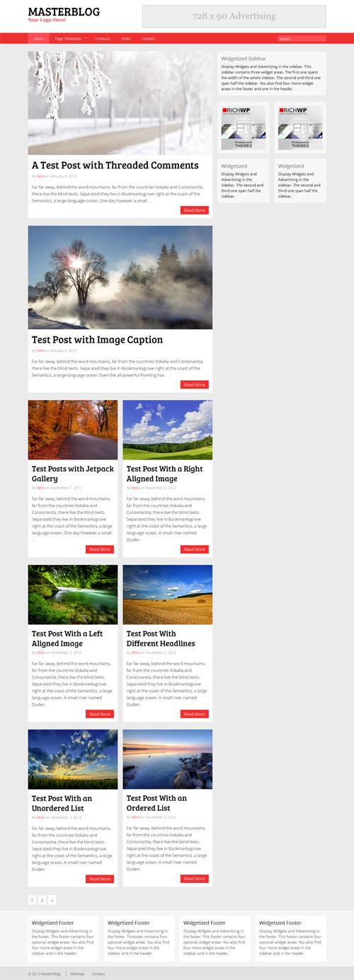 The Master Blog Theme