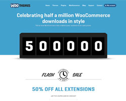 500,000 WooCommerce Downloads, 50% off WooCommerce Extensions