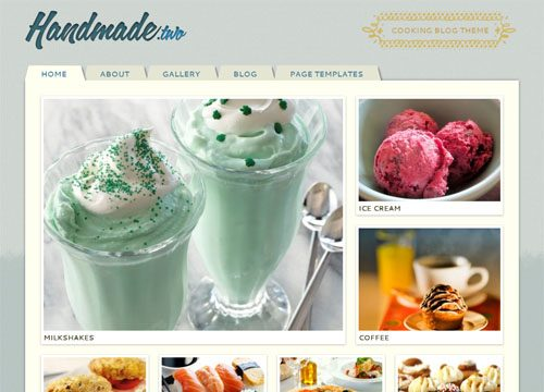 Handmade Two WordPress Theme for Foodies, Bloggers and Crafters