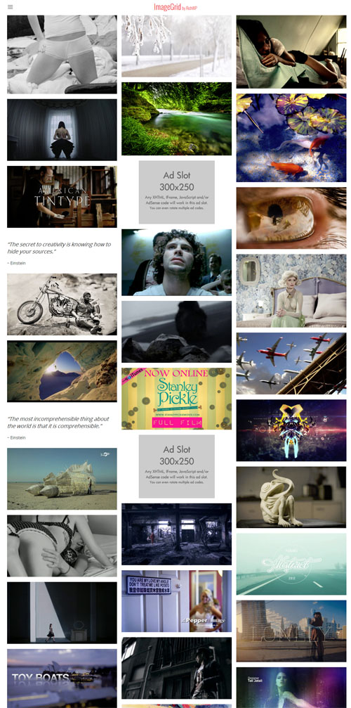 Responsive Image Grid WordPress Theme