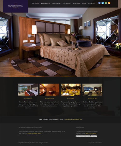 Majestic Hotel WordPress Theme