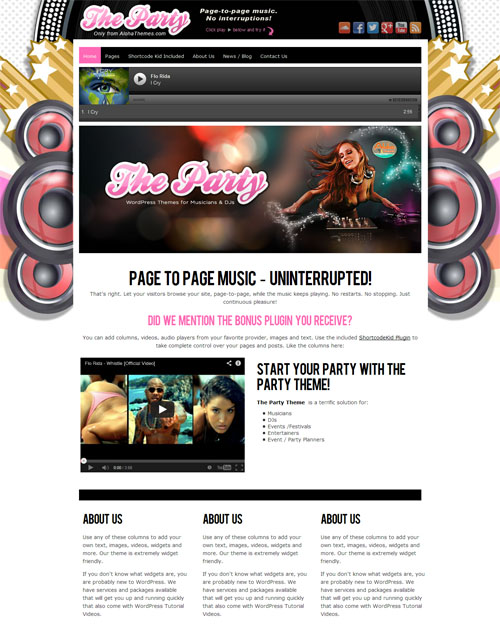 The Party Music WordPress Theme