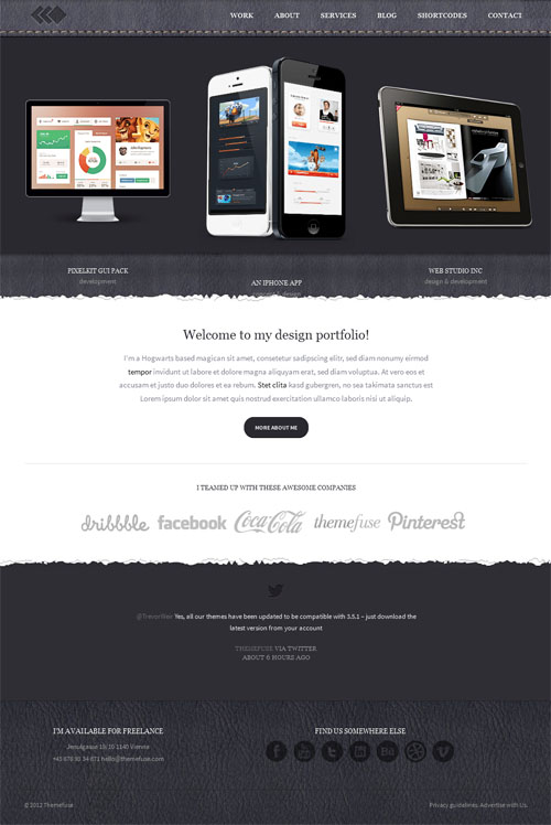 Pixel Whiz Portfolio WordPress Theme