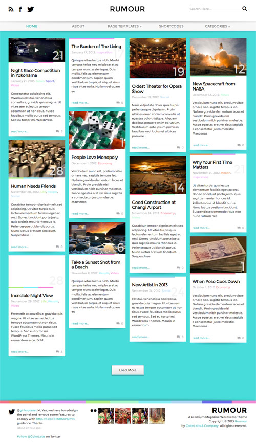 Rumour WordPress Theme