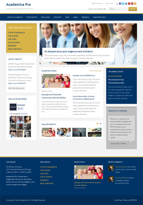 Academica Pro WordPress Theme