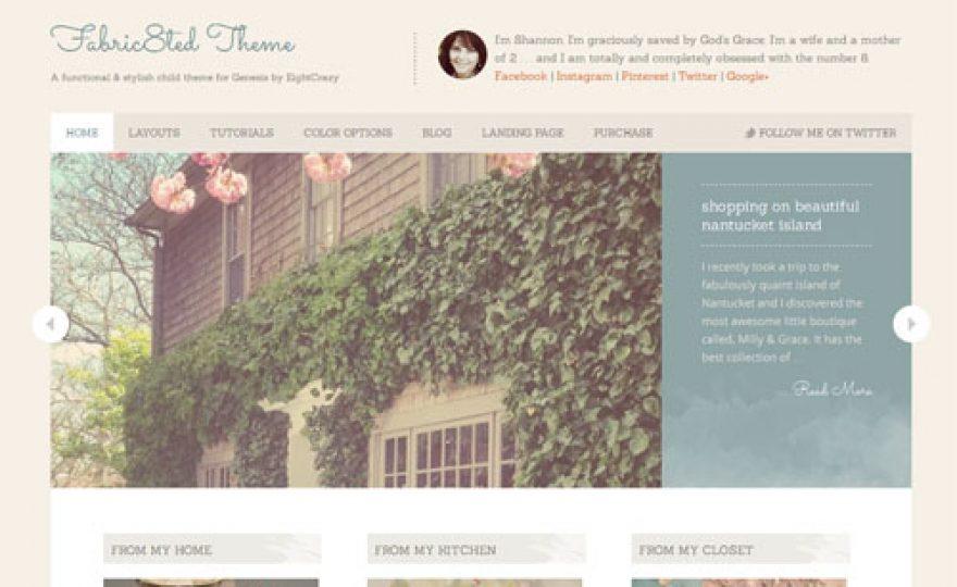 Elegant Premium WordPress Theme for Women – Fabric8ed