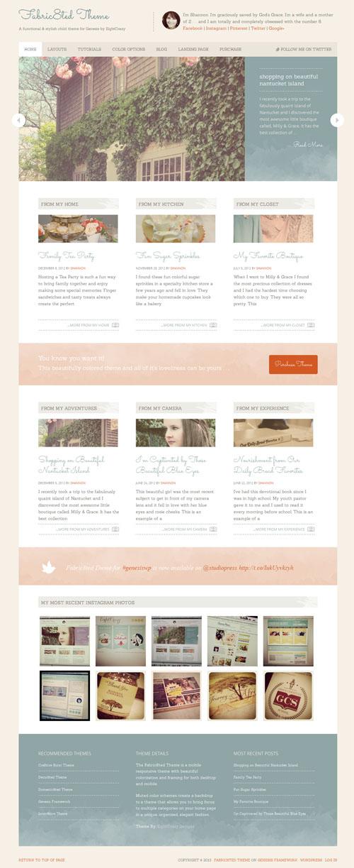 Fabric8ed Premium WordPress Theme