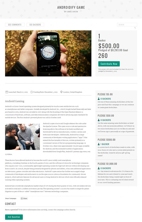 Crowd Funding WordPress Theme