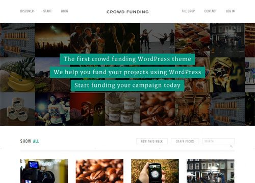 Crowd Funding WordPress Theme and Plugin