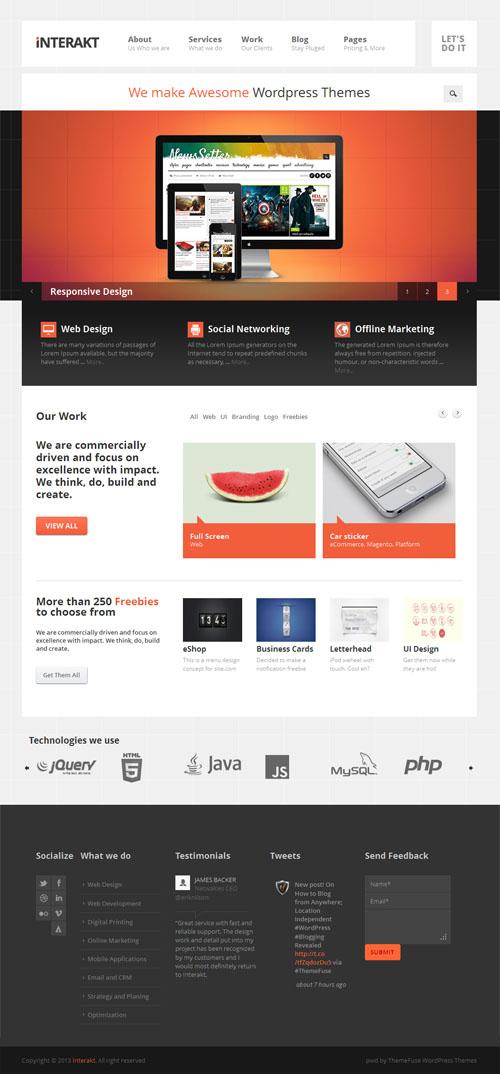 interakt Modern Responsive Business WordPress Theme