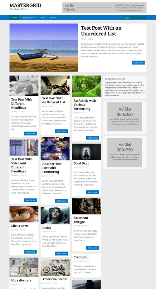 Master Grid Premium WordPress Theme