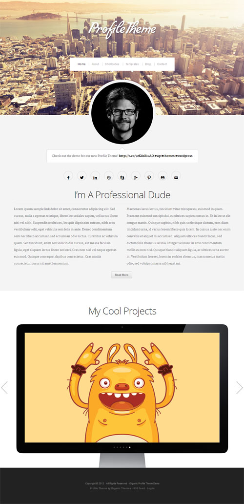 Personal Profile WordPress Theme