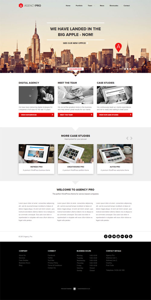 Agency Pro Responsive Business WordPress Theme
