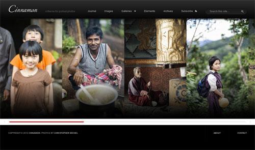 Mobile Friendly Portrait Photo WordPress Theme