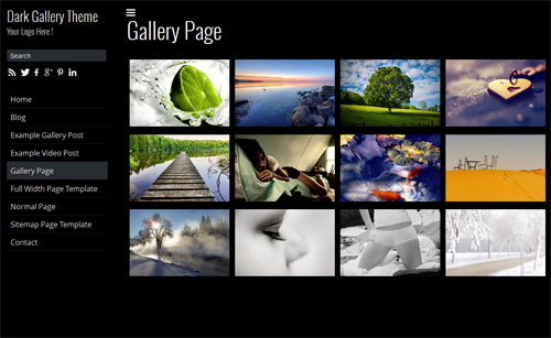 Dark Gallery Responsive WordPress Theme
