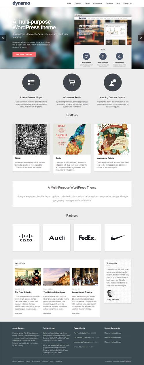 dynamo Responsive Business WordPress Theme
