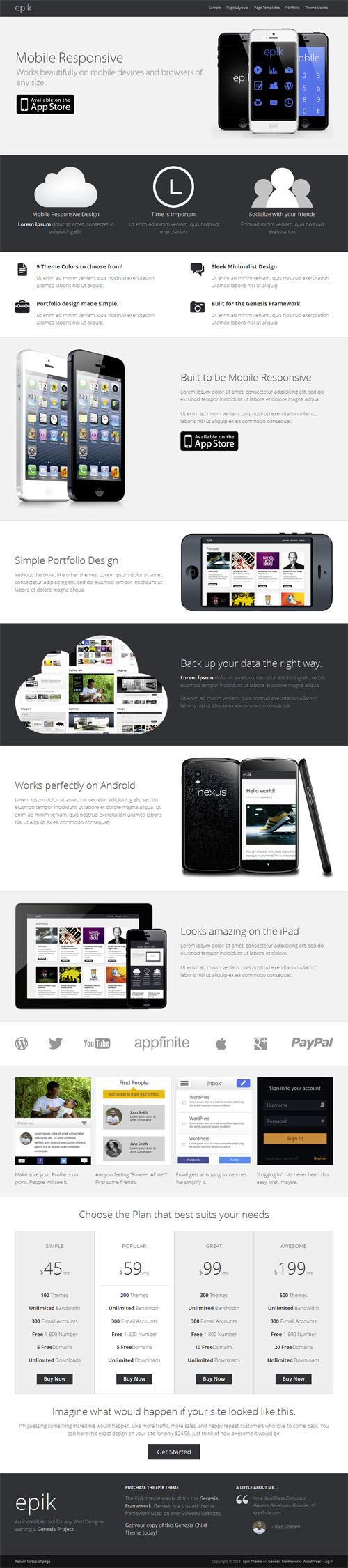 Epic Responsive Business WordPress Theme