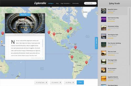 Location Based WordPress Theme