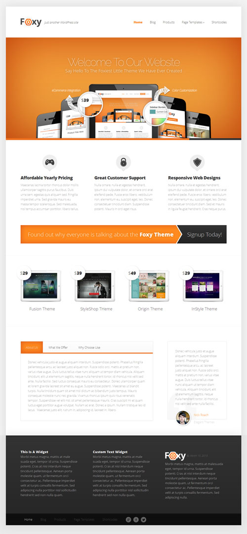 Foxy Business WordPress Theme