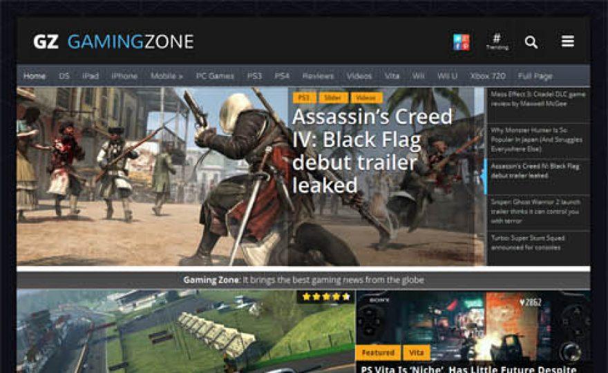Gaming Zone Responsive WordPress Theme