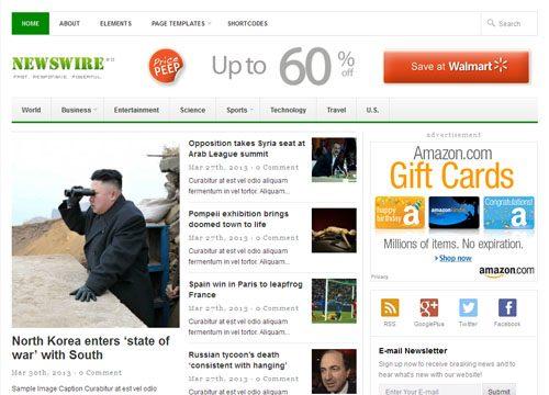 Responsive News / Magazine WordPress Theme – Newswire 2.0