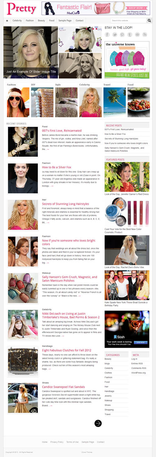 Pretty Magazine WordPress Theme