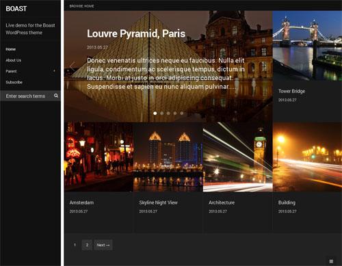 Photo Blog WordPress Theme - Boast