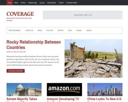 Coverage News and Magazine WordPress Theme
