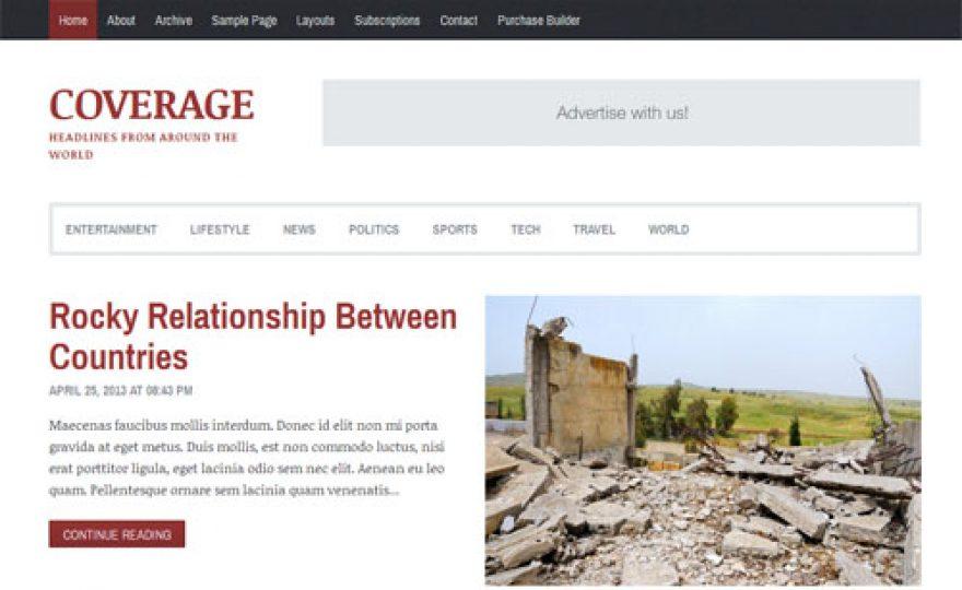 Coverage News and Magazine WordPress Theme