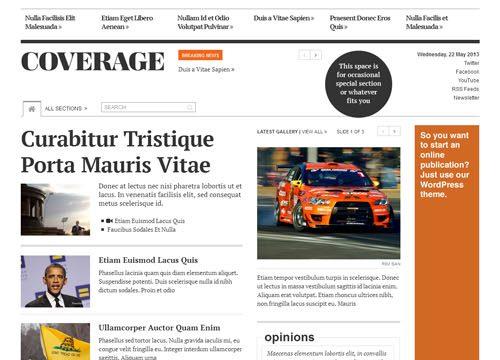 Responsive Newspaper WordPress Theme – Coverage