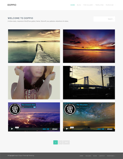Responsive WordPress Gallery Theme: Doppio