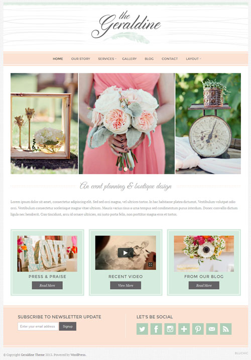 Geraldine Premium WordPress Theme