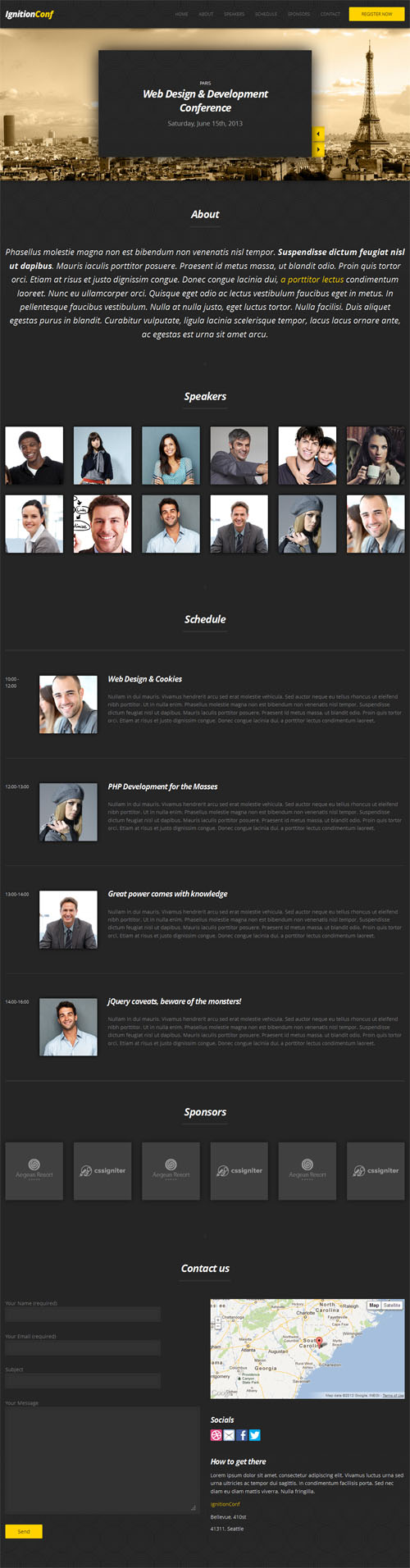 25+ Best Conference & Event WordPress Themes 2018