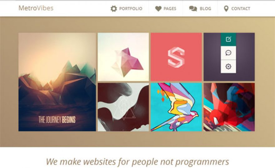 Responsive Business Portfolio WordPress Theme – Metro Vibes