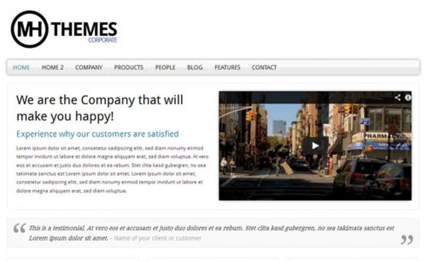 MH Responsive Corporate WordPress Theme