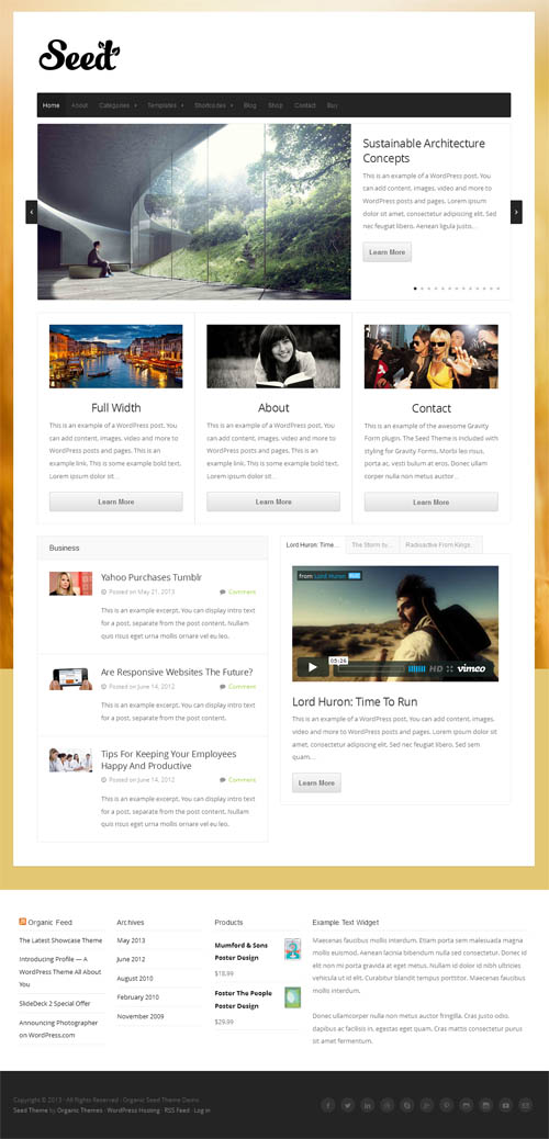 Seed WordPress Theme