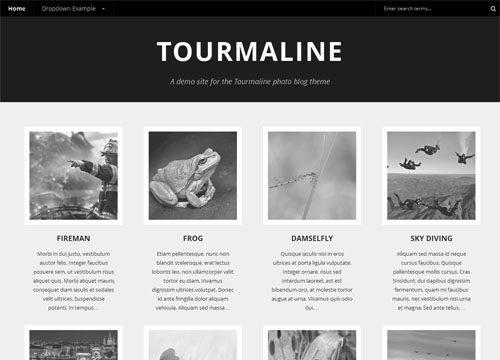 Responsive Photo Blog WordPress Theme – Tourmaline