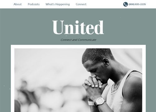 Mobile Responsive Church WordPress Theme