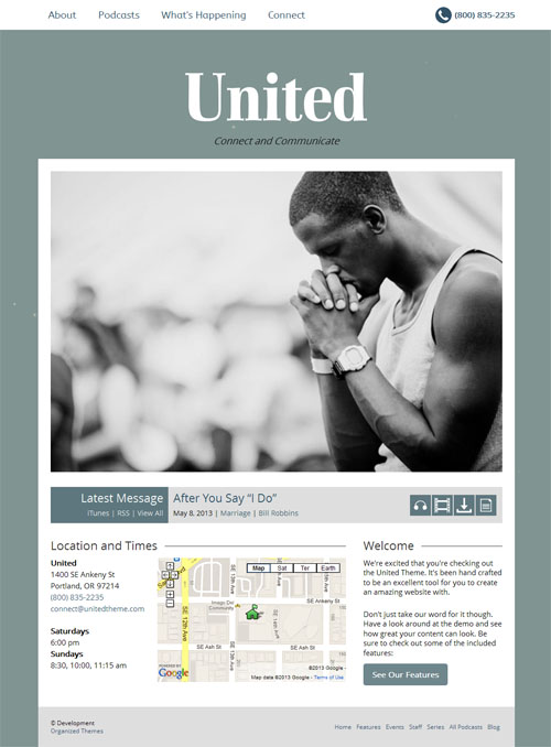 Mobile Responsive Church WordPress Theme