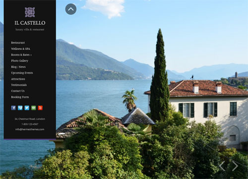 castello hotel wordpress theme