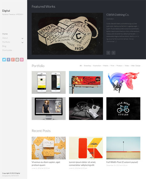 Digital Portfolio WordPress Theme
