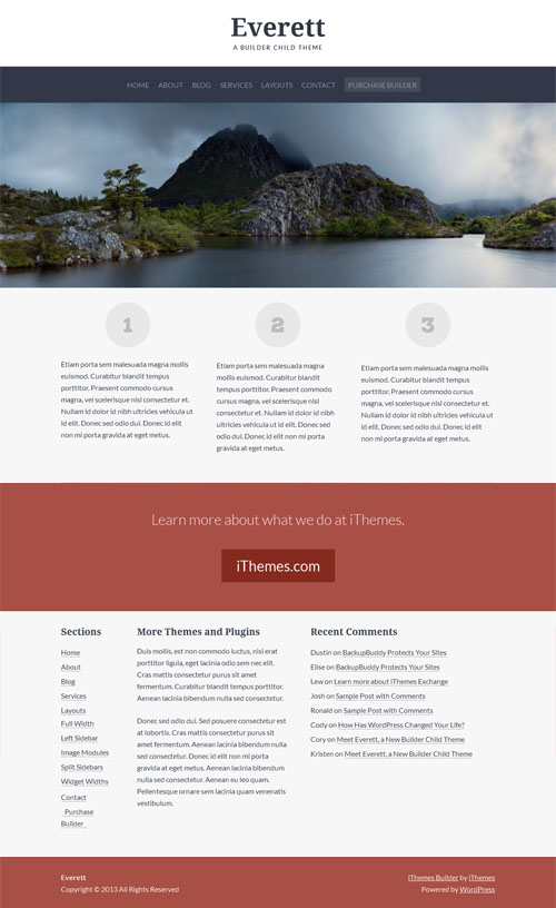 Everett Premium Business WordPress Theme