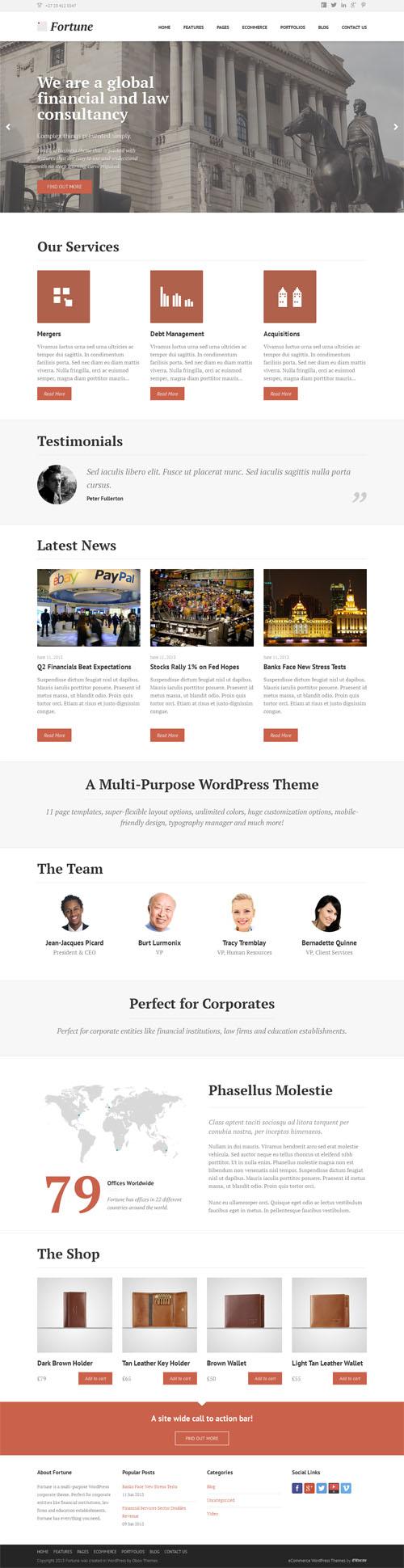 Fortune Corporate WordPress Theme