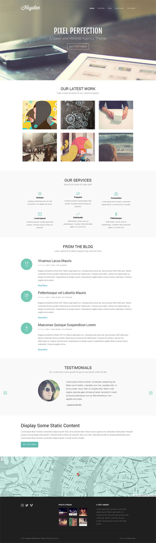 hayden Professional Agency WordPress Theme