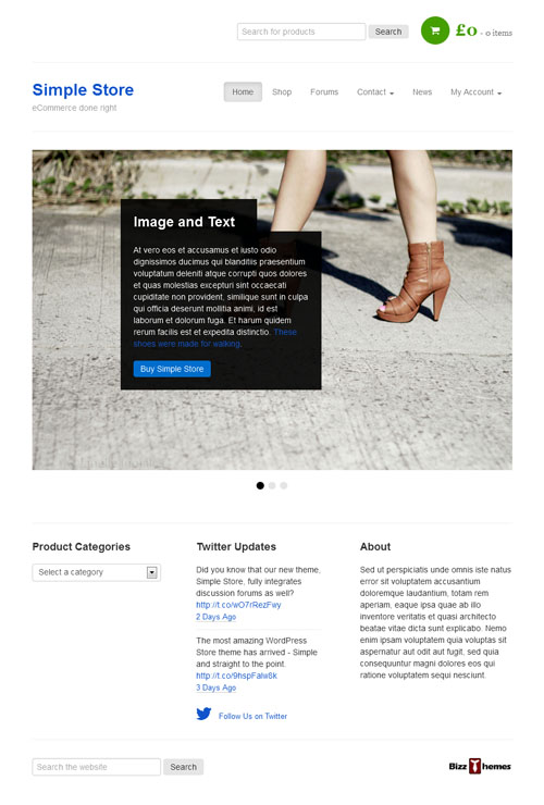 Simple Store Responsive WordPress Theme