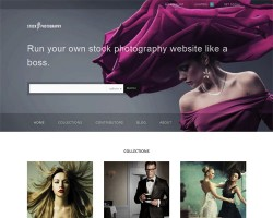 Stock Photography Business WordPress Theme
