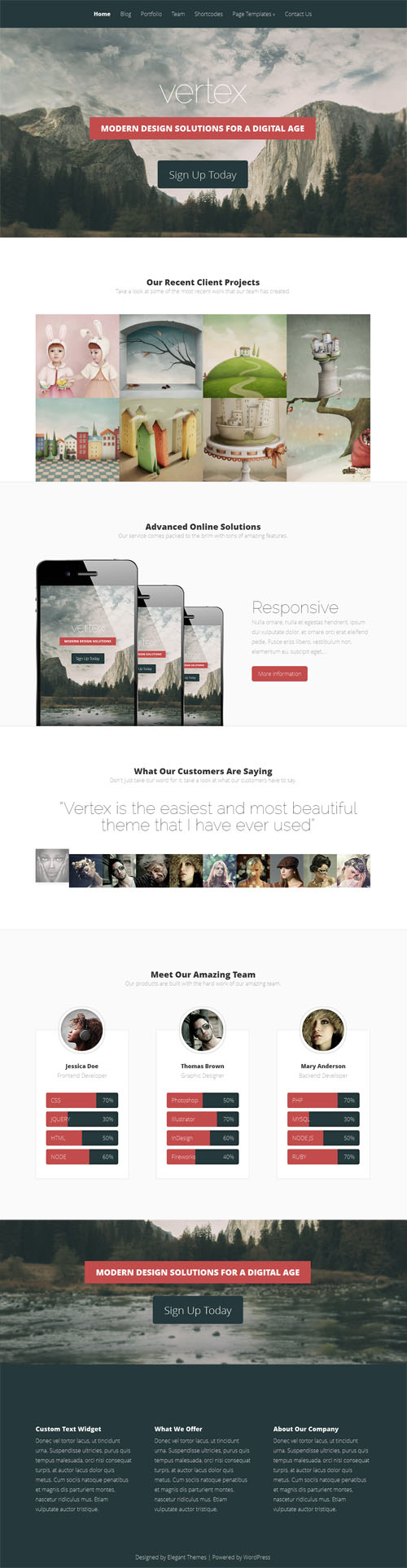 Vertex Premium WordPress Theme