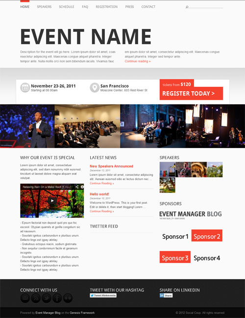 25 Best Conference Amp Event Wordpress Themes 2017