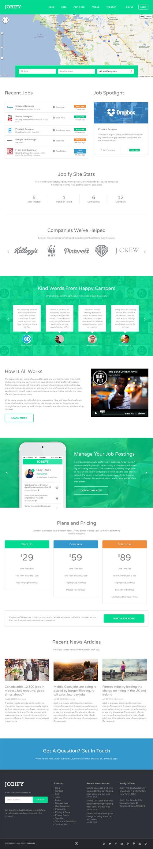 mobile ready job board wordpress theme