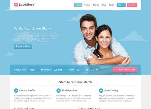 Online Dating Website WordPress Theme